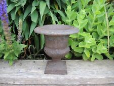 Small  Vintage Cast Iron  Garden Urn 14 cm diameter (619)