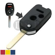 Flip Key Shell+Blank refit for HONDA Odyssey Accord CR-V Fit Remote Key 3 Button