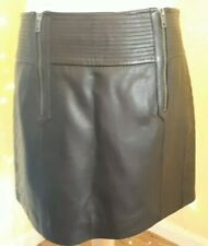 NEXT Real Leather Skirt Size 16 Zipped and patterned