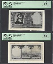 Nepal Face & Back 10 Rupees Unissued Pick Unlisted Photograph Proof UNC