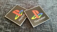 2 NEW 3D PlayStation PS1 PS2, PS3, PS4 CHROME LOGO DECAL STICKER NO GAME CONSOLE