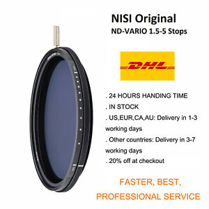 NiSi 95mm Filter 1.5-5stops ND-VARIO  Variable ND Pro Nano Enhanced Filter