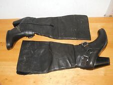 Arturo Chiang New Womens Vala Distressed Charcoal Leather Boots 6.5 M Shoes