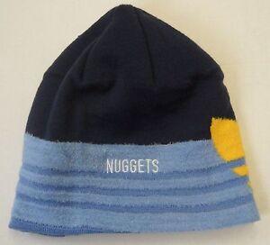 NWT NBA Denver Nuggets Adidas Cuffless Winter Knit Hat Beanie Cap OSFA NEW!