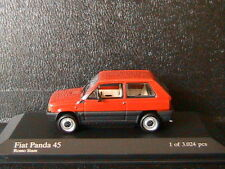 FIAT PANDA 45 1980 ROSSO SIAM MINICHAMPS 400121401 1/43 RED ROT ROUGE LHD LEFT