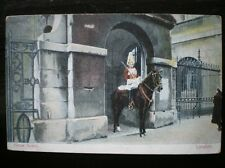 POSTCARD SOCIAL HISTORY MILITARY HORSE GUARD ON DUTY LONDON