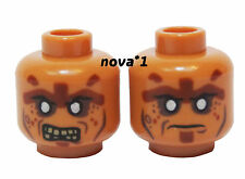 LEGO HEAD ZOMBIE DUEL SIDED FOR MINIFIGURE NEW