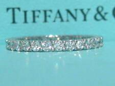 TIFFANY & CO. PLATINUM 2.2MM SHARED SETTING FULL CIRCLE .86 DIAMOND WEDDING RING