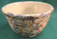 """Red Wing 7"""" Sponge Panel Mixing Bowl Saffron Red Blue Panel Yellow ware"""