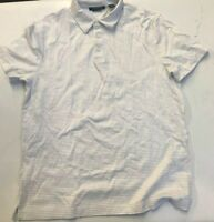 NWOT PERRY ELLIS MEN'S LIQUID COTTON STRIPED SHORT SLEEVE POLO-M
