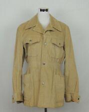 VTG Lee USA Brown Tan Corduroy Jacket Coat Button Western