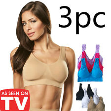 cdf860df0078e 3pc Set Women s Seamless Sports Bra Shaperwear Stretch Breathable Gym Yoga  Bras