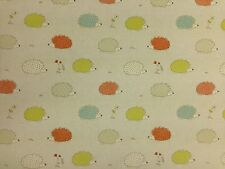 Hedgehog Duckegg CottonCurtain Fabric-137 cm wide - 10.2 metre roll