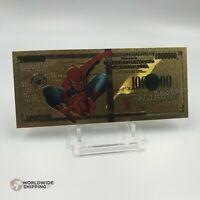 Billet de 1 Million Dollars Spiderman Gold / Carte Card Carddass / US $