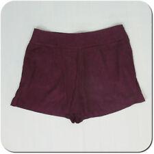 ANN TAYLOR LOFT Women's Floral Burgundy Skorts Short, Side Zipper, size 10 (NEW)