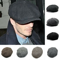 Women Mens Herringbone Newsboy Ivy Cap Bunnet Beret Golf Tweed Cabbie Gatsby Hat