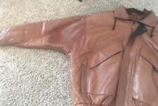 Bally Vtg Italy Full Zip Pocketed Bomber Flight Leather Jacket Coat Men's 44