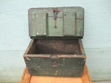 antique BOX original OLD apple GREEN paint FARMERS BARN fresh OLD FIND