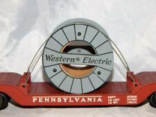 American Flyer 936 Pennsylvania Depressed Center Flat Western Electric cableLoad
