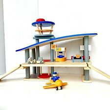 Plan Toys Plan City Series Airport Wooden Play Set with Accessories