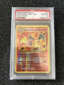 Charizard 11/108 Evolutions Reverse Holo PSA 10 Gem Mint