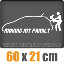 Como se hizo My Family chf0196 Blanco 60 x 21cm PEGATINA TRASERA CRISTAL