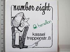 Aufkleber Sticker Benetton Number Eight Kassel (4150)