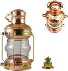 "Brass Copper Finish Vintage Reproduction 14"" Leeds Burton Nautical Maritime Ship"