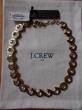 NWT J.CREW GOLD WITH CLEAR STONES NECKLACE