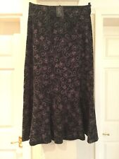 Cazz Designer Heavy Cotton Embroidered Skirt Size 10 Plus BNWT