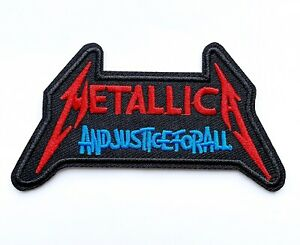 🇨🇦 Metallica And Justice For All Embroidered Iron-On Patch Band Appliqué DS247