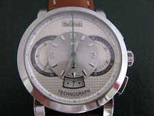 Paul Picot Men's Firshire Technograph PP 0334 White Dial Chrono Automatic Watch
