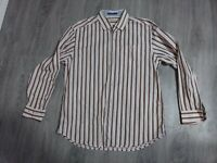 Tommy Bahama Silk Cotton L/S Button Up Plaid Striped Shirt MENS LARGE Top