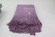Things Remembered Family Purple Ombre Embroidered Throw NEW with box