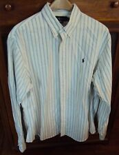 Mens Ralph Lauren Pony Logo Custom Fit Size XXL 100% Cotton Striped Shirt