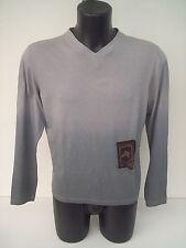 T-shirt Roberto Cavalli,colore grigio,toppa in pelle cavallo,tg 50
