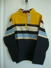 Gymboree VARSITY FOOTBALL Long Sleeve Yellow Strip Top Boy Size 7 NWT - Fall