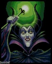"Disney's Princess Sleeping Beauty's VIllain ""Maleficent"" Cross Stitch Pattern CD"