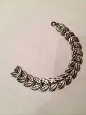 Signed Danecraft 925 Sterling Silver Leaf Bracelet
