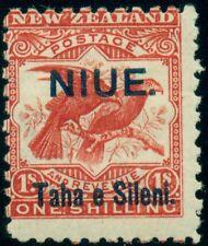 NIUE #13v 1sh brown red, WMK SIDEWAYS variety, og, LH