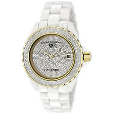 Swiss Legend Karamica SL20052 WWTG Womens 341 Diamond White Band/Gold-Tone Bezel