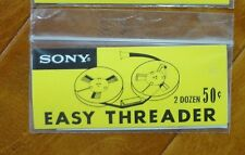 Lot 2 dozen SONY Easy Threaders 8mm Super 8 film splicer vintage tape