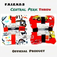 NEW Primark Centrtal Perk F.R.I.E.N.D.S Throw soft fleece cosy winter blankets