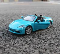 Bburago 1:24 Porsche 718 Boxster Blue Diecast Model Racing Car NEW IN BOX