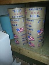 GUMMED TAPE*REINFORCED*5 ROLLS*450 FT 9.00 A ROLL ! Made in the USA Flag Printed
