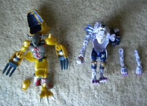 1999 Digimon Digivolving Agumon WarGreymon WereGarurumon Action Figures (Parts)