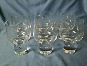 Kosta Boda  Glasserie Mambo  6 Weingläser  mit Luftblase  Design V. Lindstrand