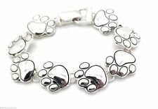New Dog Paw Charm Bracelet Silver Plated Magnetic Fold-Over Women