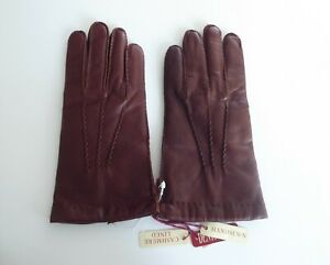 Dents Leather Cashmere Lined Men's Gloves NWT CHELSEA English Tan Size 7.5