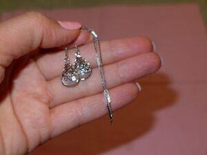 Ohrringe Ohrhänger, Silber 925, Tropfen mit Kette